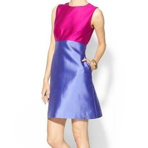 Blakely Pink and Purple Silk Contrast Dress!